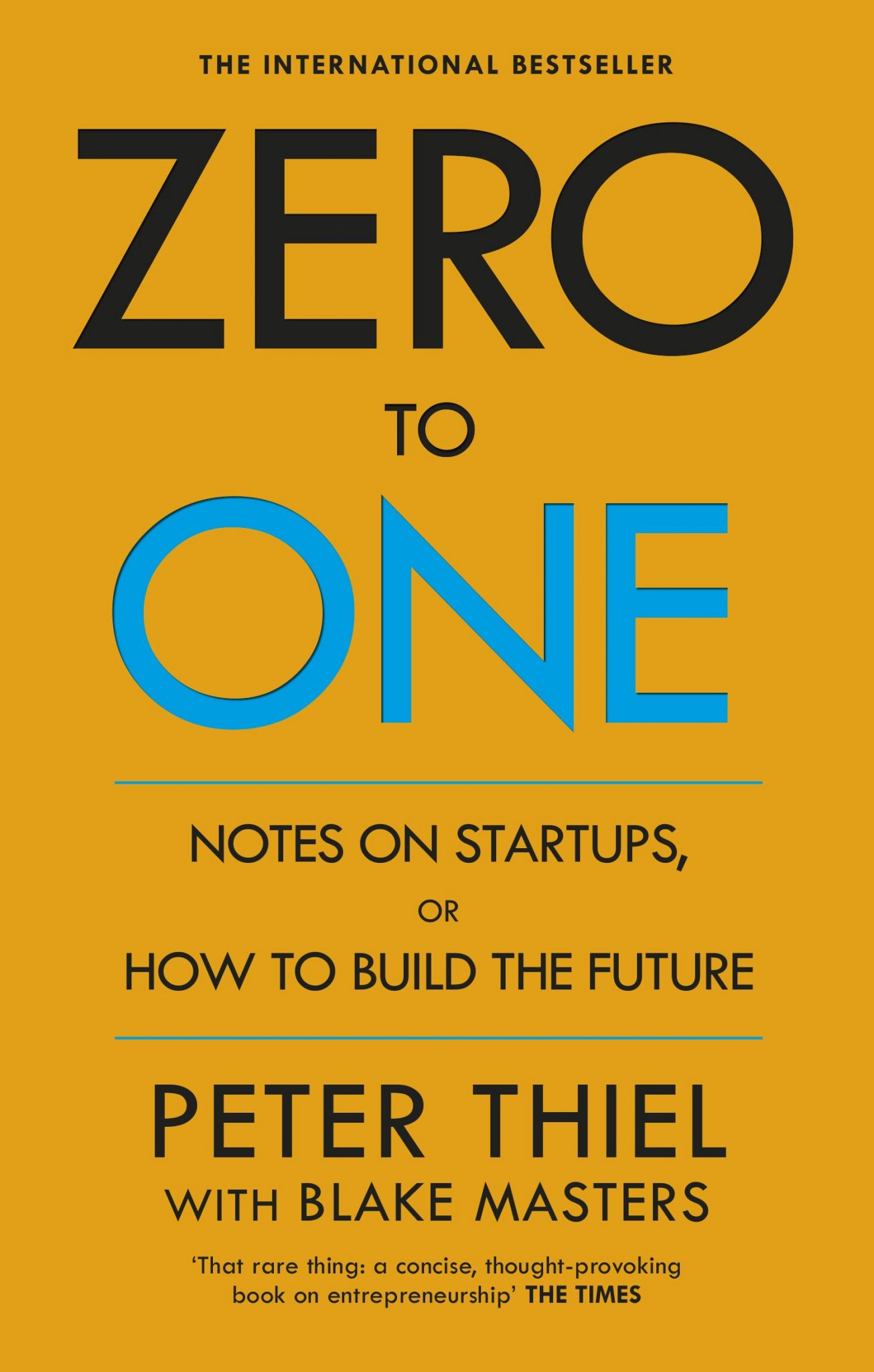 Book Review - Zero to One by Peter Thiel